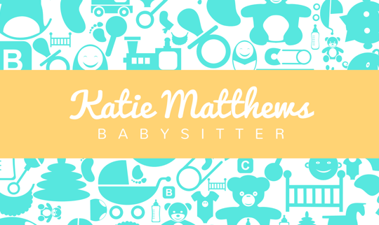 Design and print business cards on canva babysitter business cards fbccfo Image collections