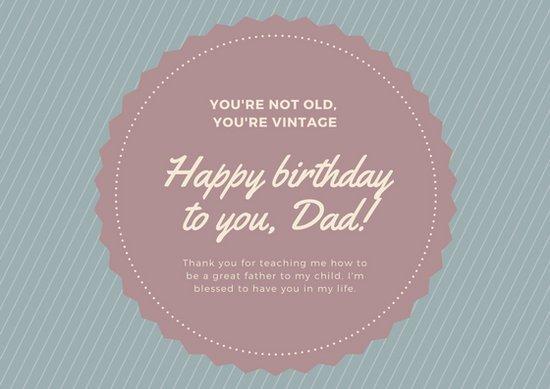 Шаблон открытки с днем рождения папе с благодарностью и словами любви