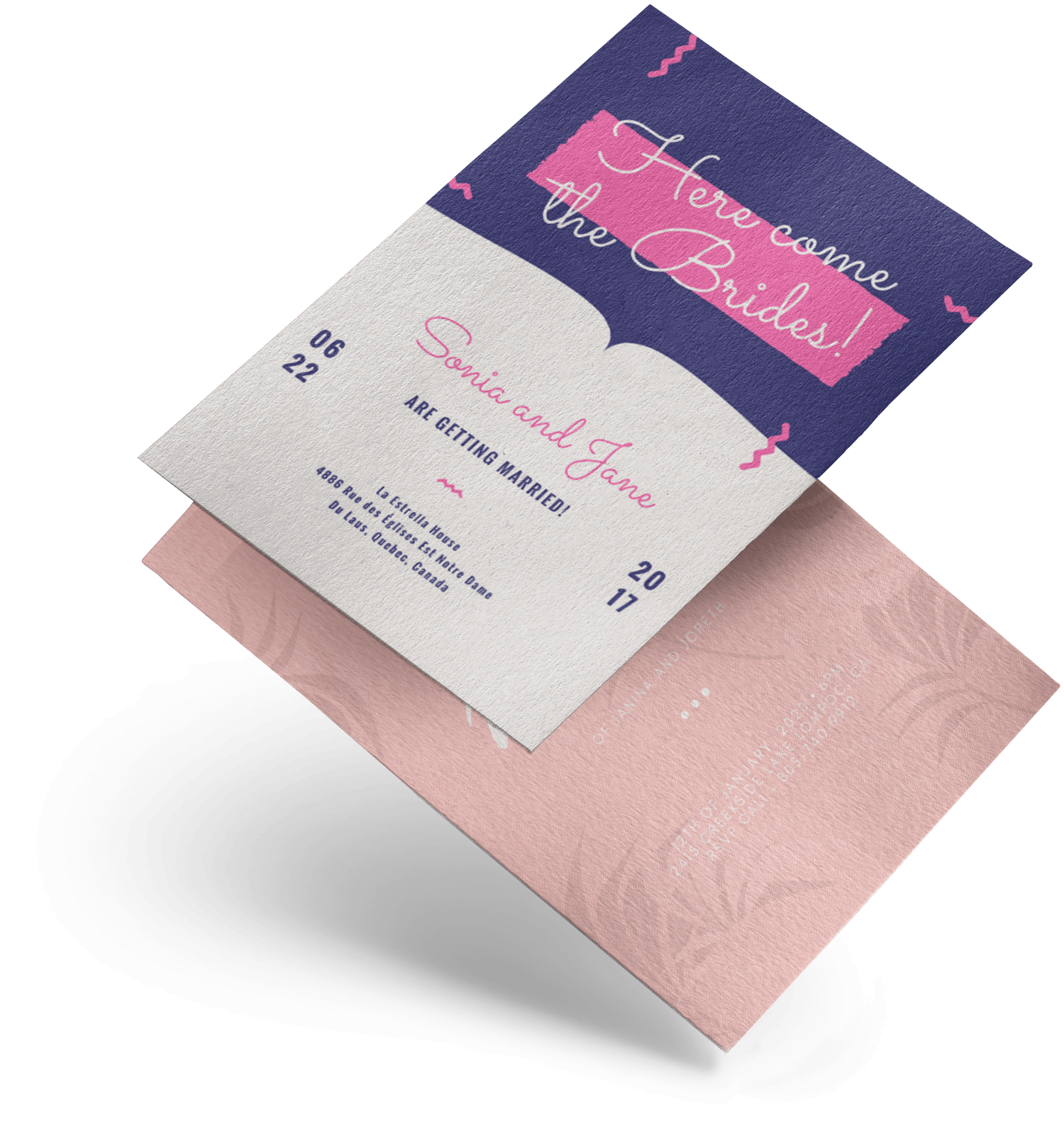 Design and Print Wedding Invitations on Canva