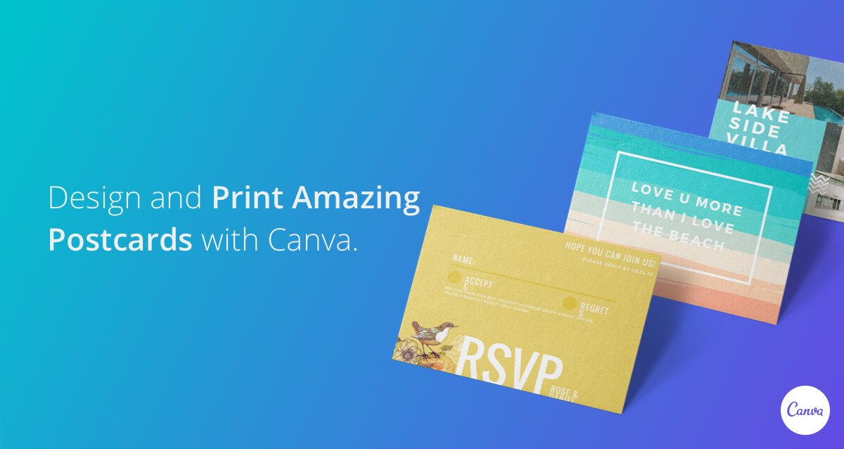 design and print postcards on canva