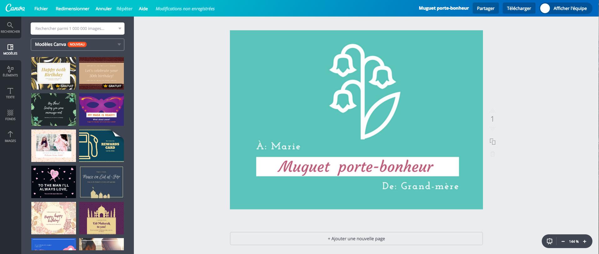 cr u00e9ez une carte du 1er mai avec du muguet virtuel