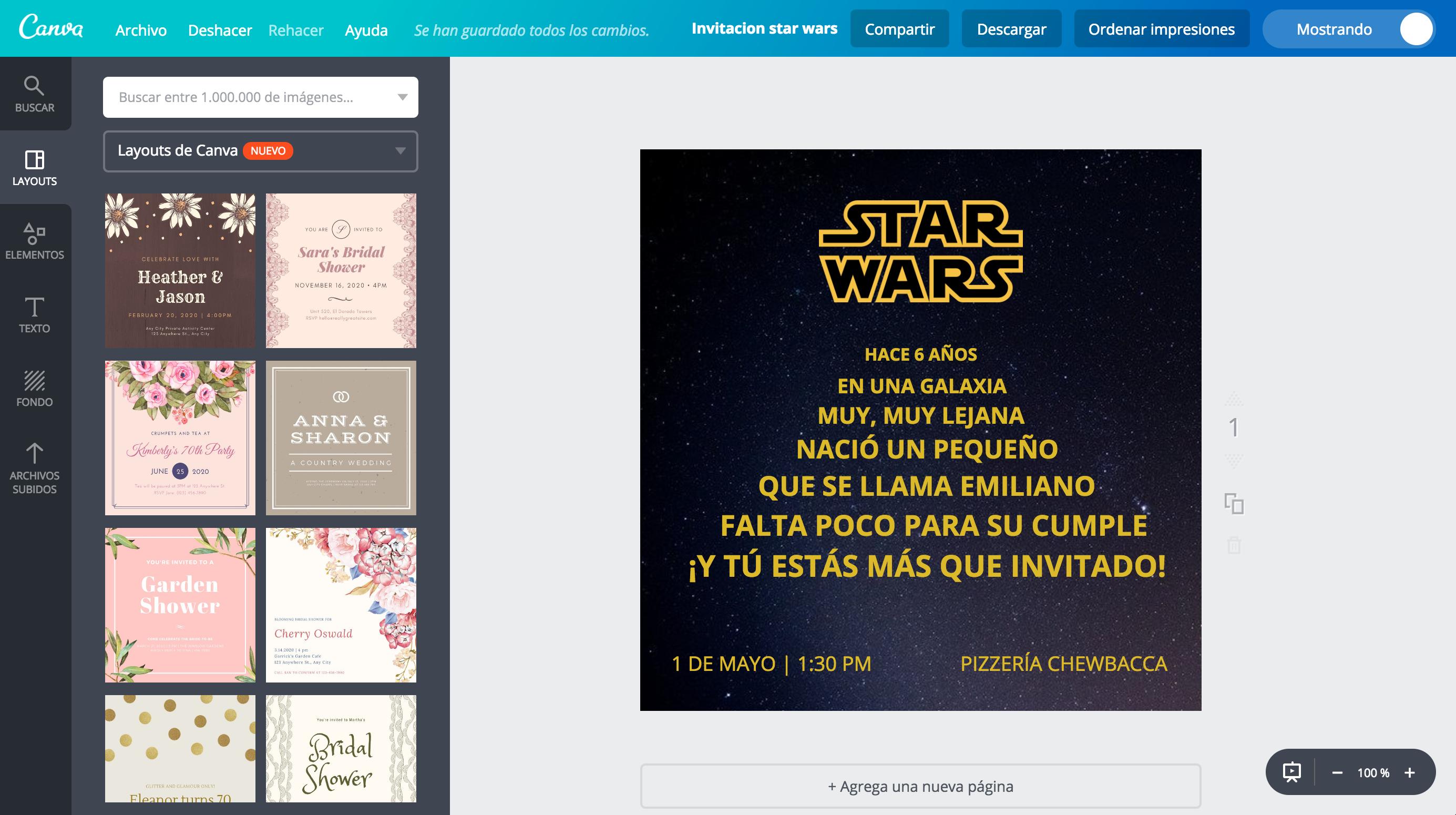 Crea Invitaciones De Star Wars Online Gratis Canva