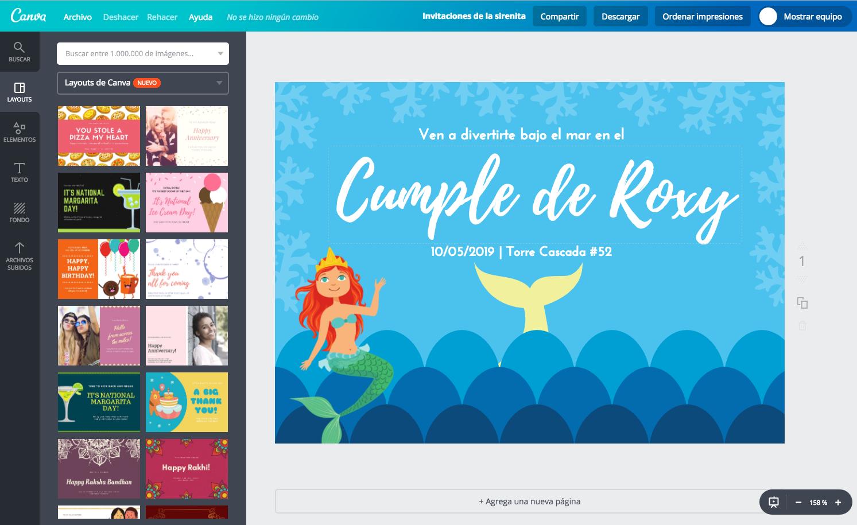 Diseña Invitaciones De La Sirenita Online Gratis Canva