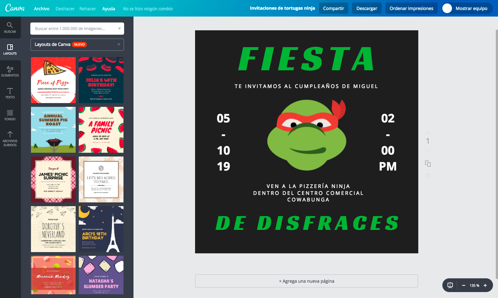 Crea Invitaciones De Tortugas Ninjas Online Gratis Canva
