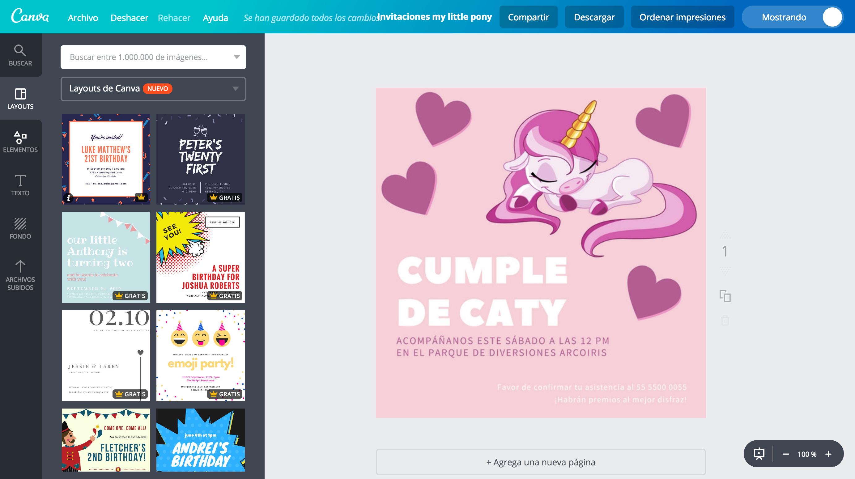 Diseña Invitaciones De My Little Pony Online Gratis Canva