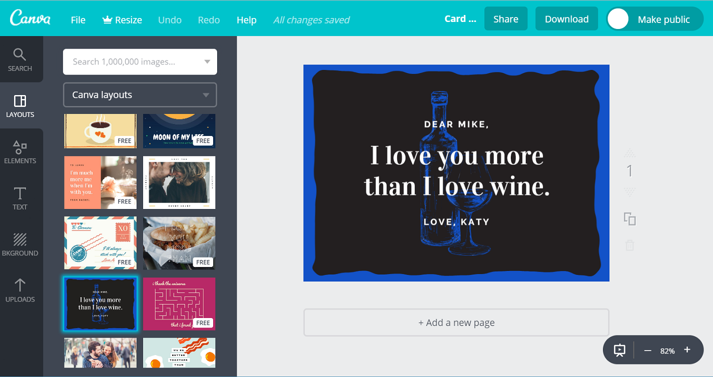 Design Love Greeting Cards Online In Minutes With Canva