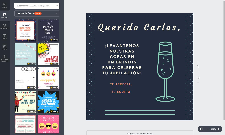 Crea Tarjetas De Jubilación Originales Online Gratis Canva