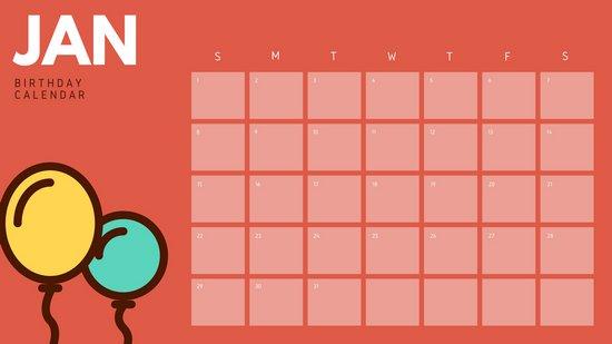 Лист календаря сине-желтыми воздушными шарами
