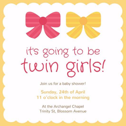 Дизайн приглашения на день рождения близнецов