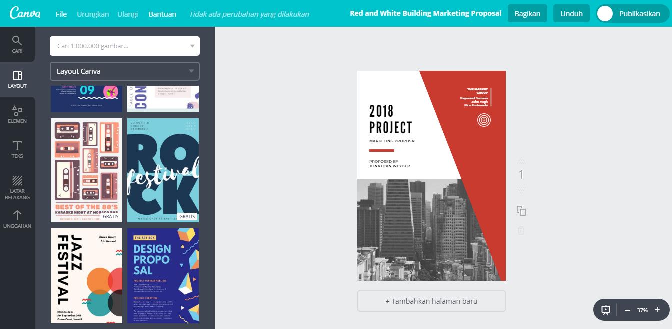 Buat Desain Proposal Kegiatan Yang Luar Biasa Keren Canva