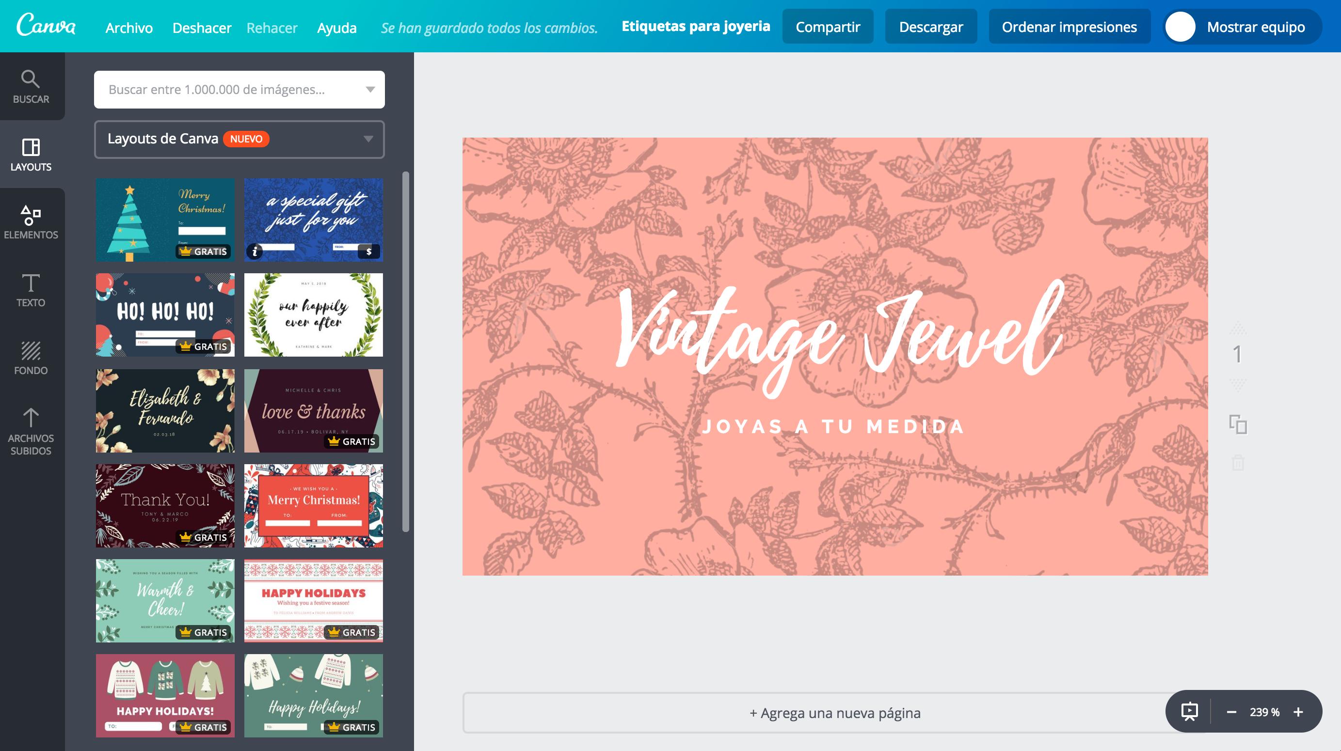 Crea etiquetas para joyería personalizadas gratis - Canva