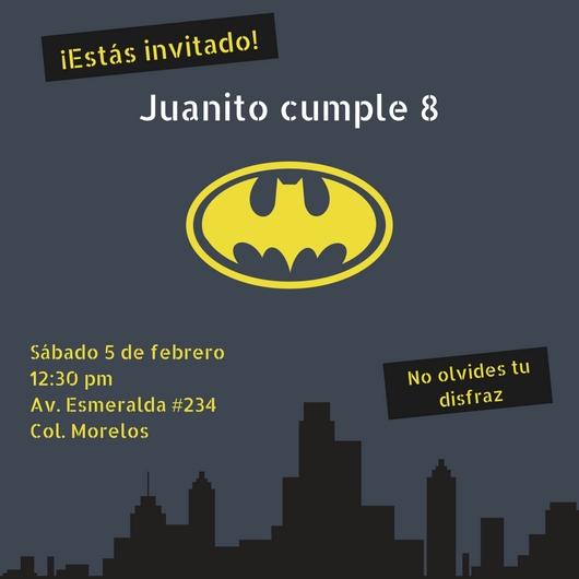 Crea Invitaciones De Batman Online Gratis Canva