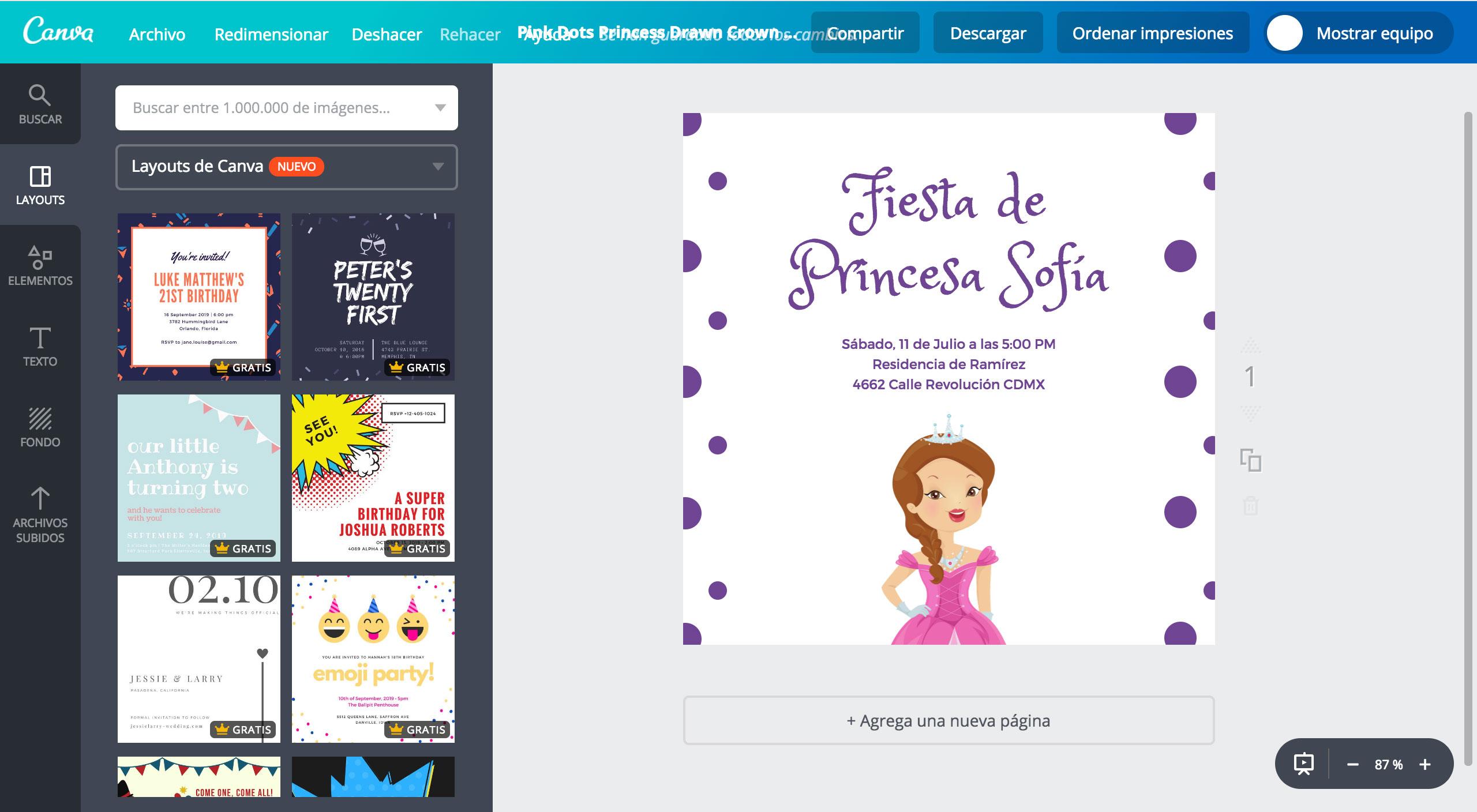 Diseña Invitaciones De La Princesa Sofía Gratis Canva