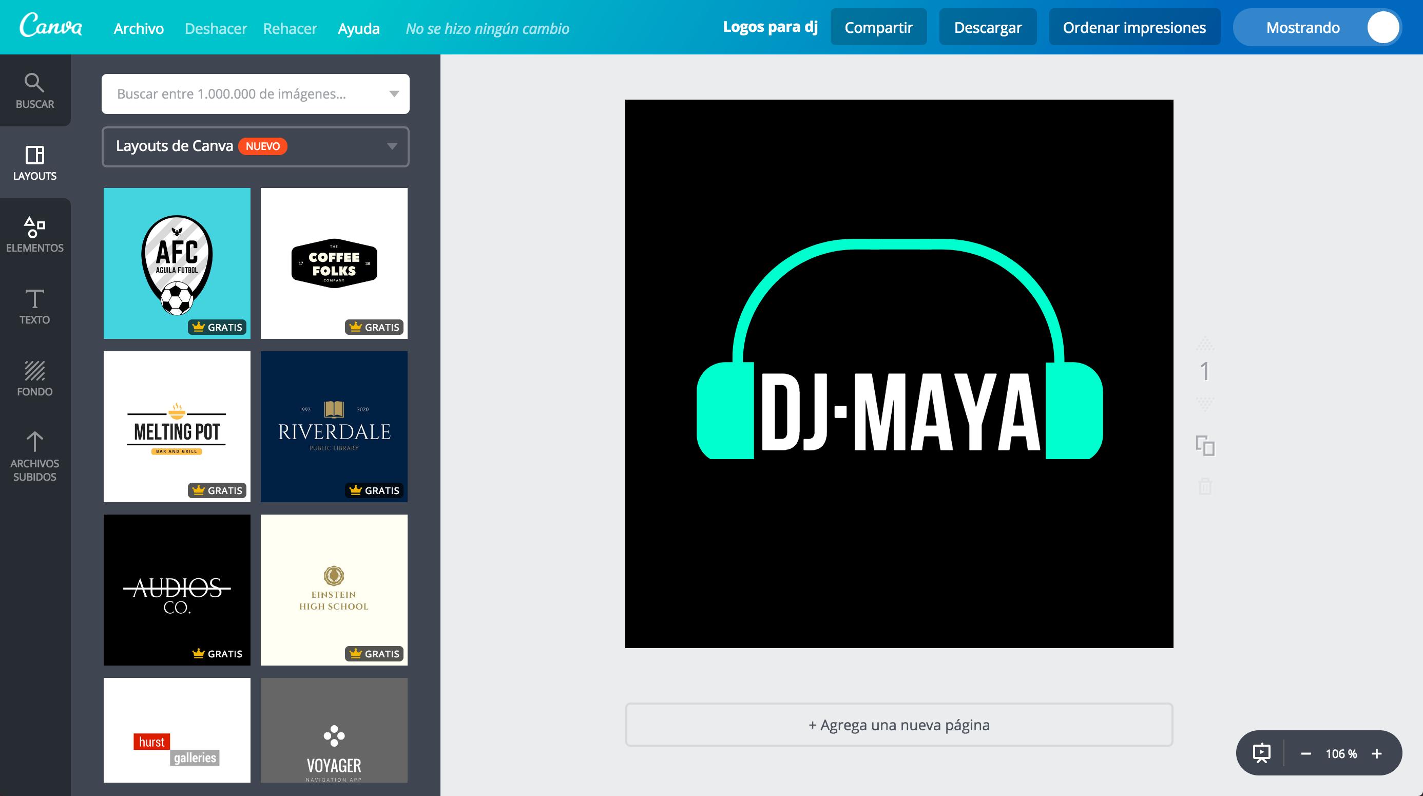crea logos para dj personalizados online gratis canva