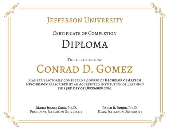 Modelos de diplomas online e para imprimir - Canva