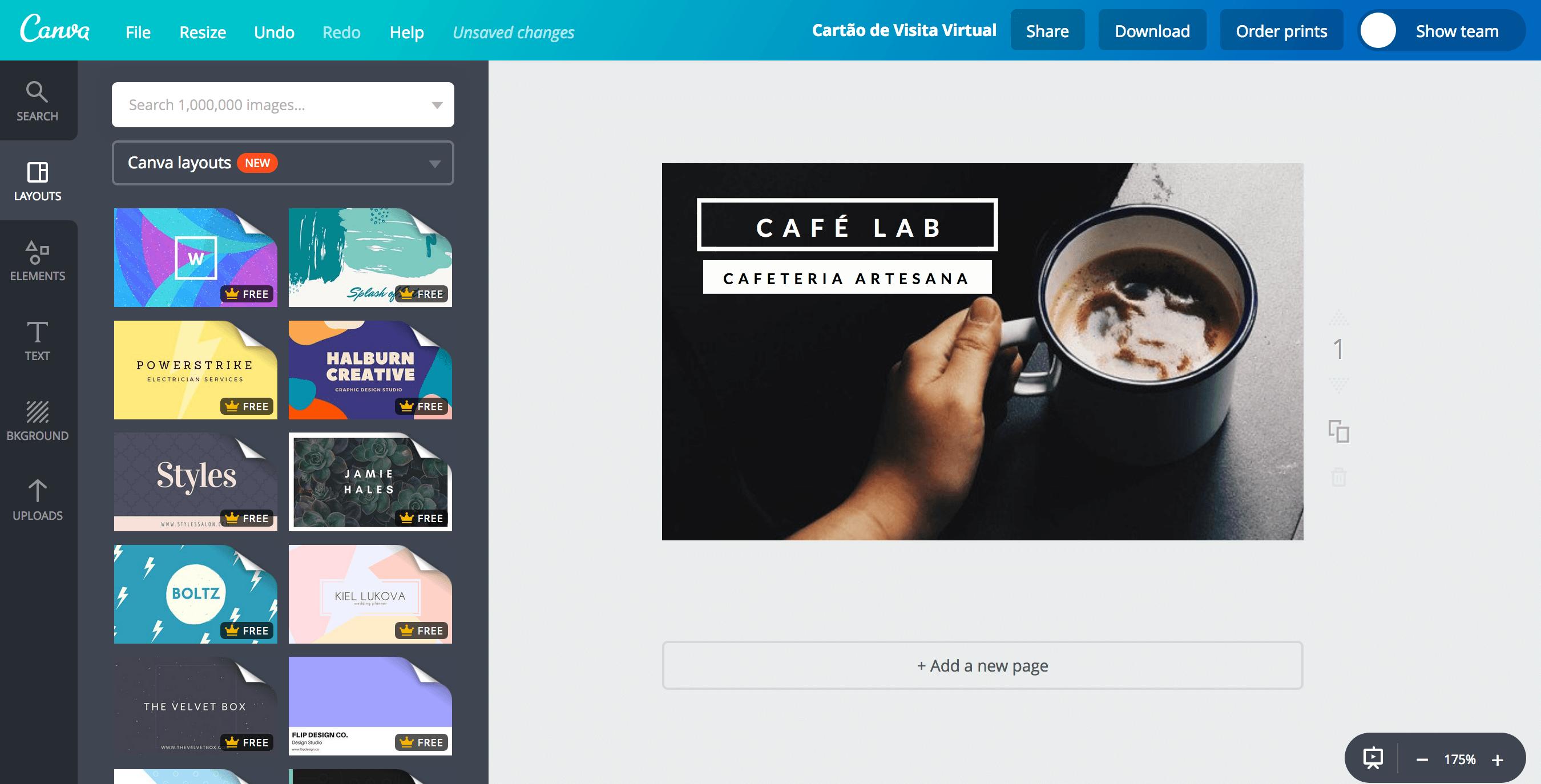 Cartão de visita virtual