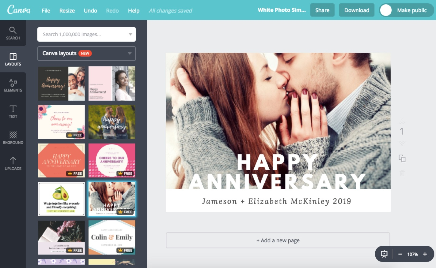 Design Anniversary Cards Online For Free With Canva
