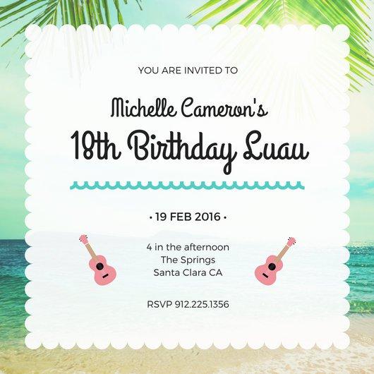 20 mod u00e8les d u0026 39 invitation  u00e0 un anniversaire des 18 ans