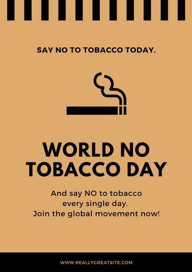 10 Contoh Poster Bahaya Rokok Canva