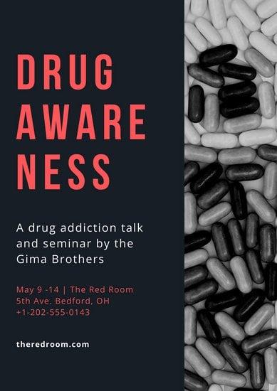 30 contoh poster anti narkoba canva