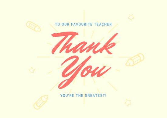 Minimalist Classroom Quiz ~ Contoh kartu ucapan hari guru canva