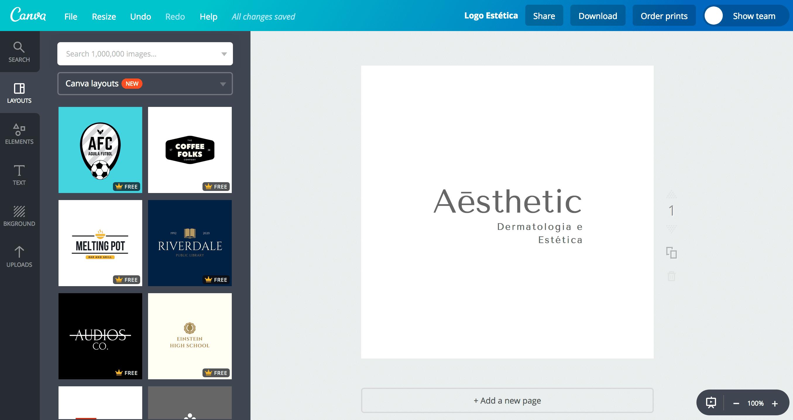 Logo de estética