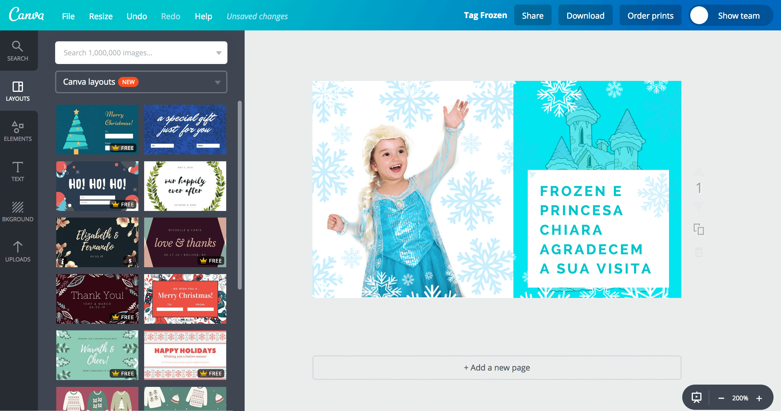 Tags da Frozen