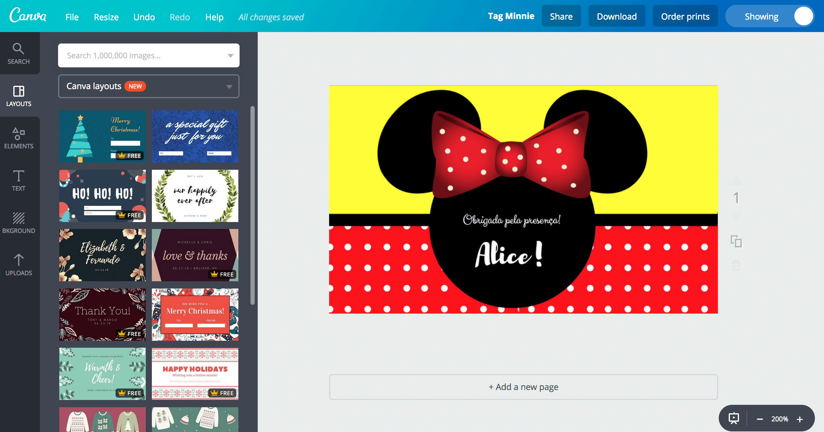 Tags da Minnie