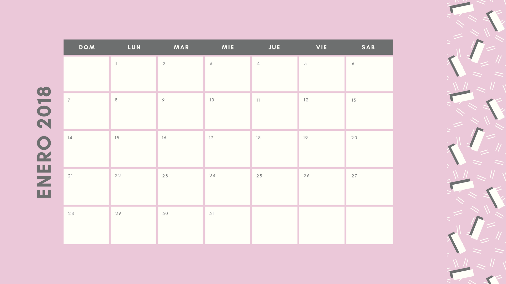 Mini Calendario 2020 Para Imprimir Chile.Crea Calendarios Personalizados Online Gratis Con Canva