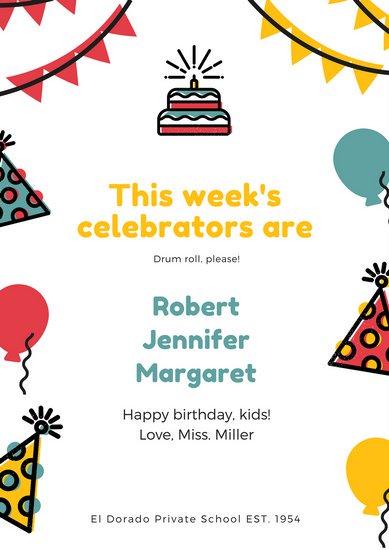 Плакат на день рождения для офиса с поздравлениями коллег
