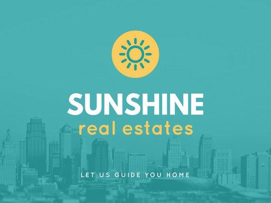 Дизайн презентации о недвижимости с логотипом компании