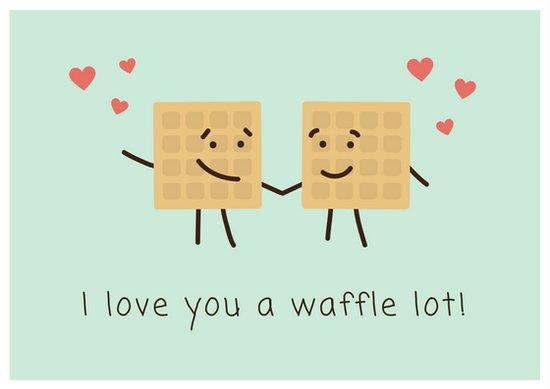 Дизайн открытки о любви с графикой на голубом фоне