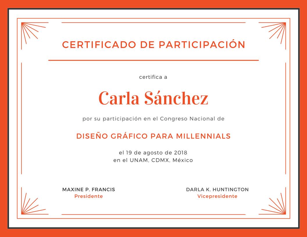 crear certificados de participacin online gratis canva