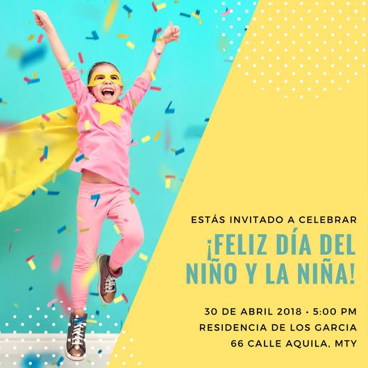 Crea Invitaciones Para El Día Del Niño Online Gratis Canva