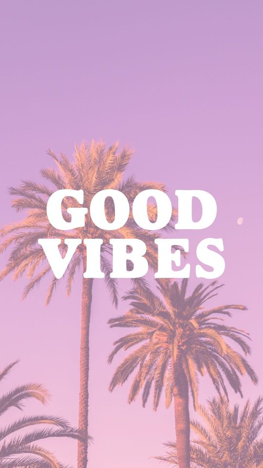 Purple Good Vibes Phone Wallpaper