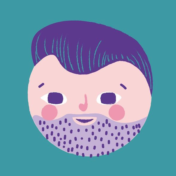 Рисованный аватар для профиля социальной сети