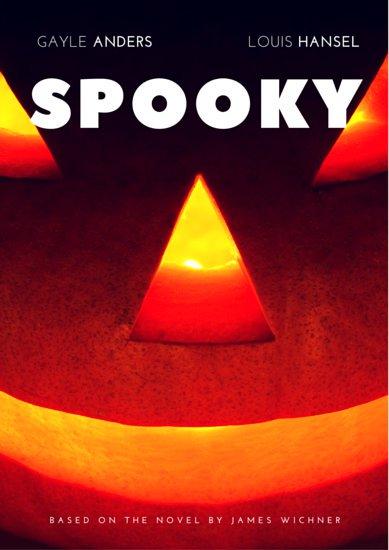 Постер к фильму ужасов с фотографией тыквы на Хэллоуин