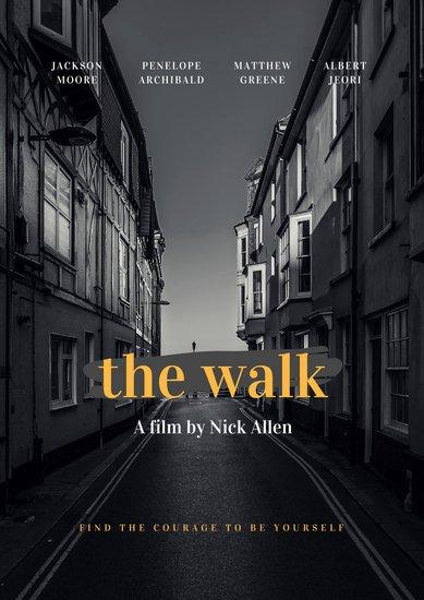 Пример постера к фильму с фотографией жилого квартала