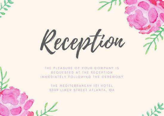 Фон для открытки на свадьбу с цветочной графикой
