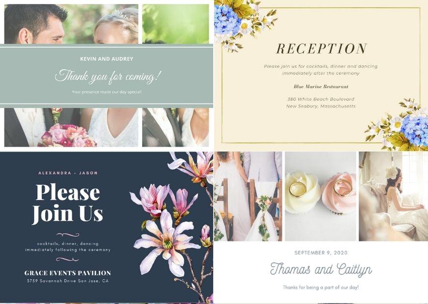 Шаблоны открыток на свадьбу