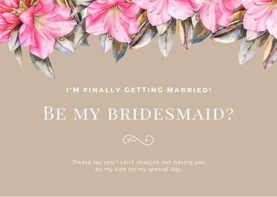 Шаблон открытки с приглашением на свадьбу с розовыми цветами