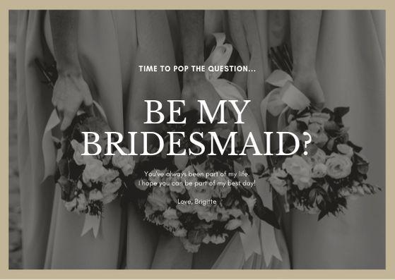 Шаблон приглашения для подруги невесты