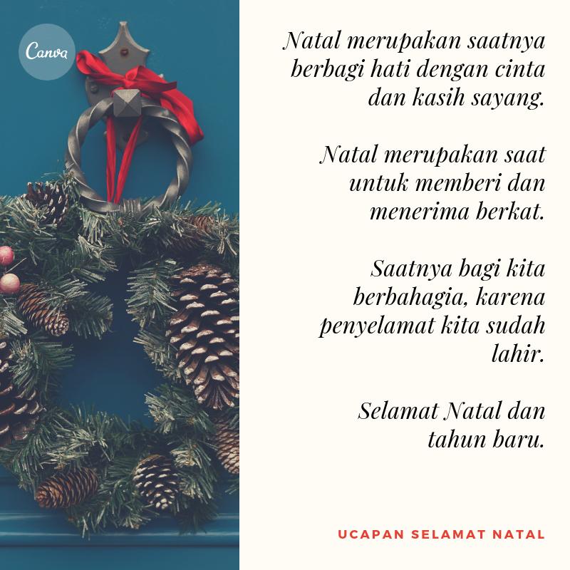 Kumpulan Ucapan Natal Penuh Makna | Dengan Gambar - Canva