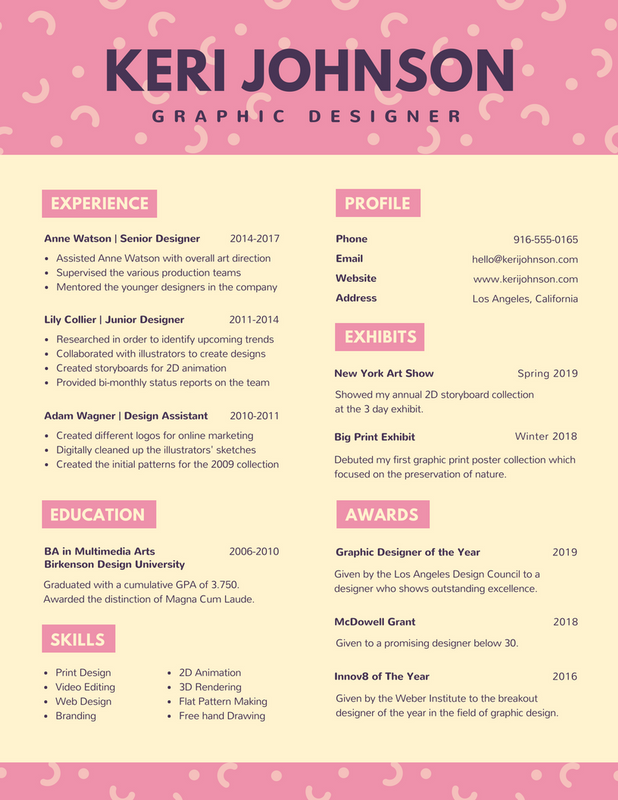 Free Online Resume Builder Design Custom Resumes In Canva