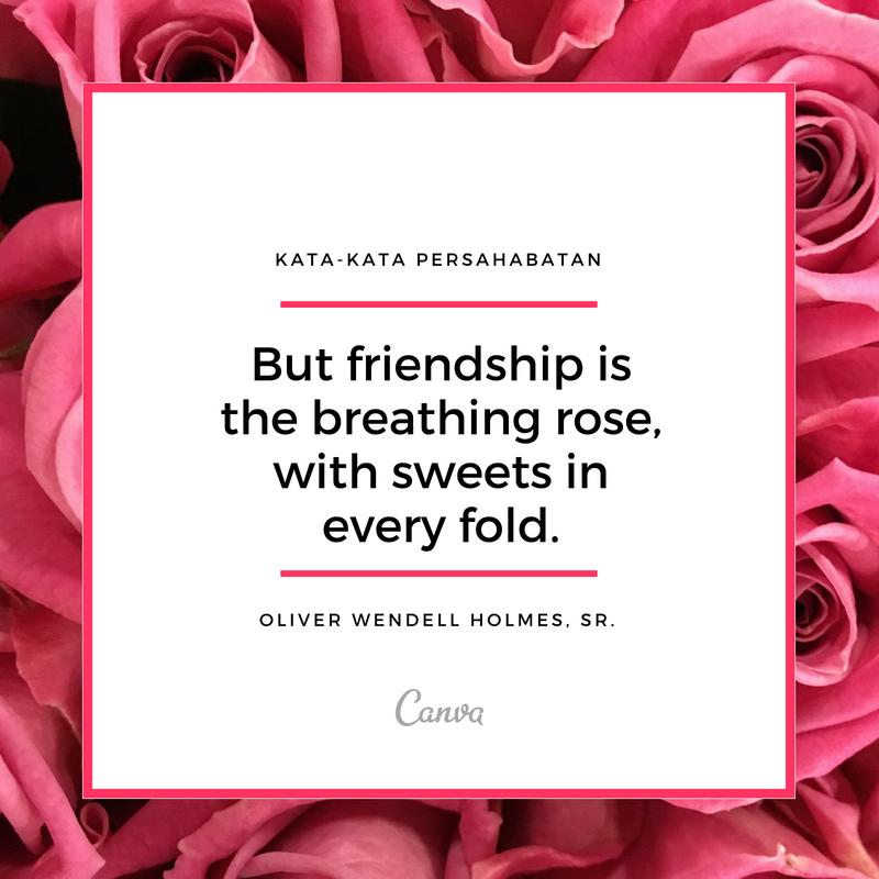 Kumpulan Kata Kata Persahabatan Sejati Dengan Gambar Canva