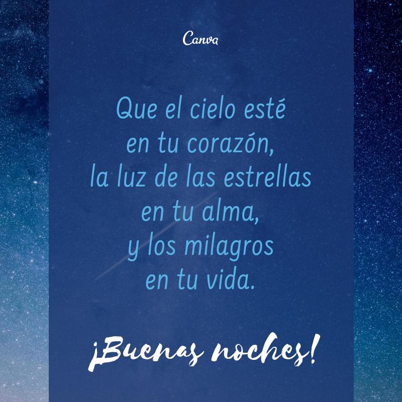 Geniales Frases De Buenas Noches Para Compartir Canva