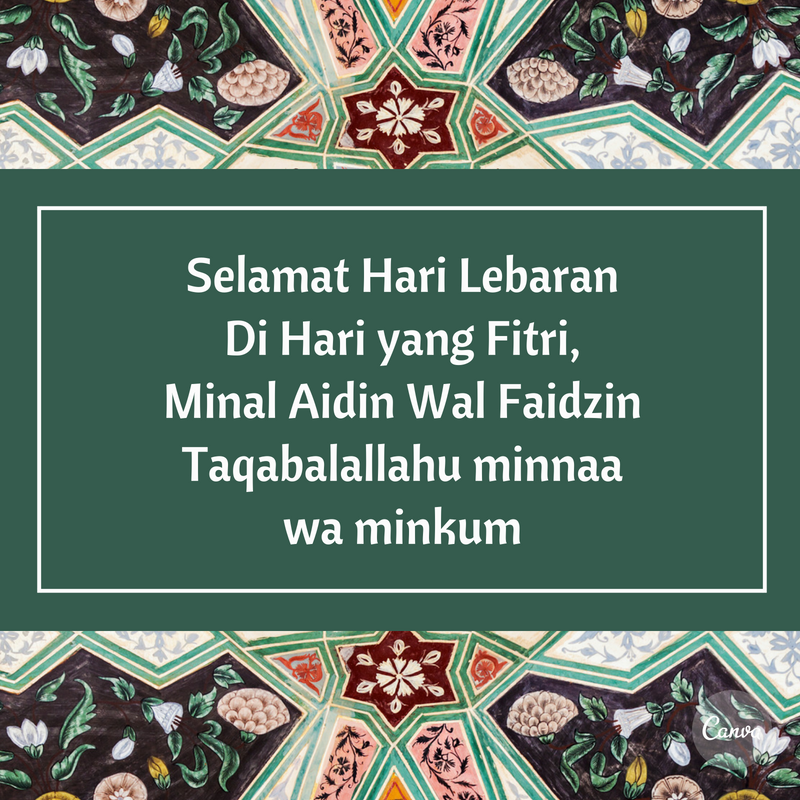 Ucapan Selamat Hari Raya Idul Fitri Buat Teman Spesial
