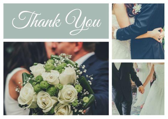 Шаблон открытки с фотографиями дня свадьбы