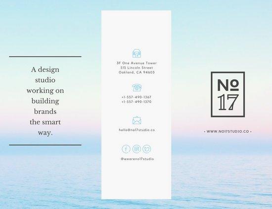 Дизайн буклета с фотографией неба и моря