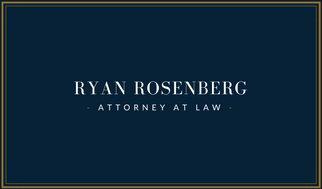 Строгий дизайн визитки юриста на темно-синем фоне